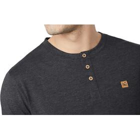 tentree Long Henley T-Shirt Herre meteorite black